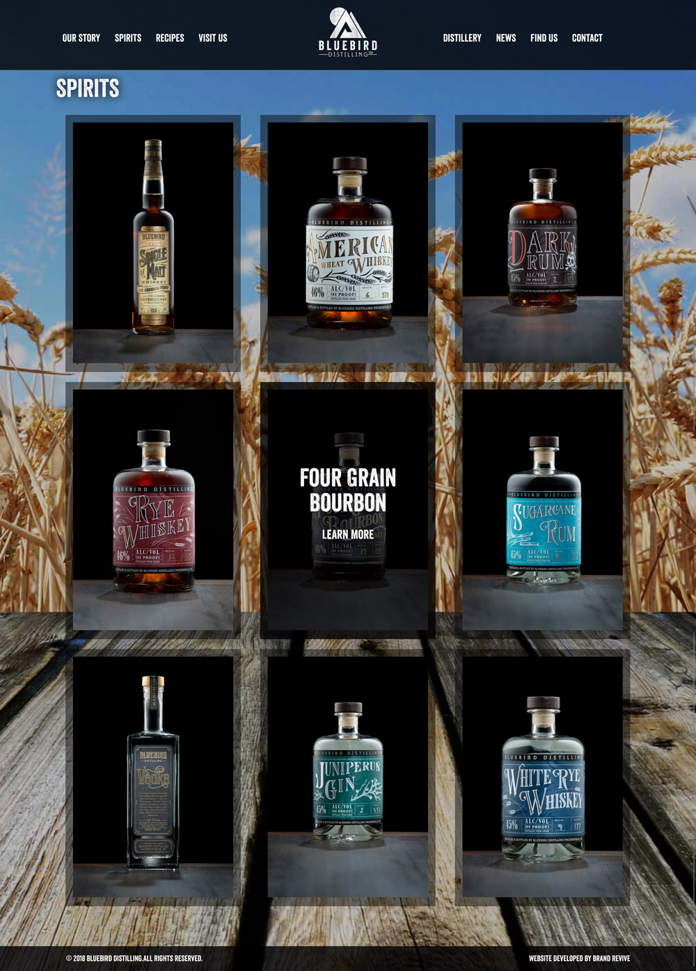 Distillery Web Design
